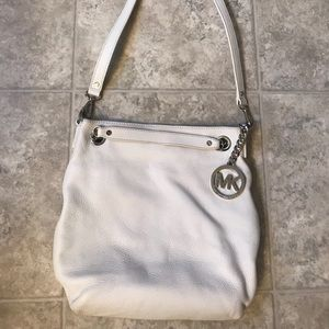 White Michael Kors crossbody purse